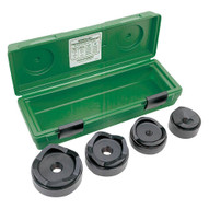 Greenlee 7304 Standard Punches And Dies (nodraw Studs) For 2-1/2 Through4 Conduit,in Plastic Case-1