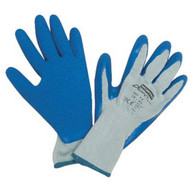 North By Honeywell NF14/8M Durotask Gray Glove Cot/poly Blue Rubber Palm-1