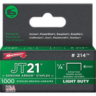 Arrow Fastener 214 1/4 Staples 1000/pk-1