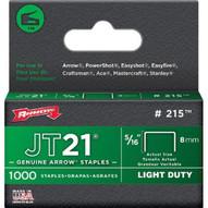 Arrow Fastener 215 5/16 Staples F/staple Gun Tacker 1000/pk-1