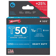 Arrow Fastener 50516 T50 5/16 Staples1250/pk .050 Wire-1