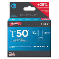 Arrow Fastener 509 50016 T50 9/16 Staples1250/pk .050 Wire (4 PK)-1