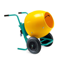 Imer Wheelman II (POLY DRUM) 5 Cubic Foot Portable Electric Cement Mixer-1