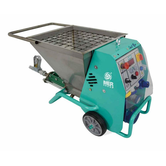 """IMER Plaster Sprayer """"SMALL 50"""" Flow rates up to 3.5GPM 110 Volt! (Reach 60' - 100' straight up)-1"""