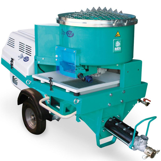 Imer Step-Up 120 Towable Electric 220v 3 Phase 7.5 HP Pumping, Spraying and Mixing Machine-1