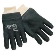 Memphis Glove 6300S Double-dipped Pvc Blackgloves Rough Finis (12 PR)-1
