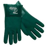Memphis Glove 6414 14 Green Gauntlet Jersey Lined Sandy (12 PR)-1