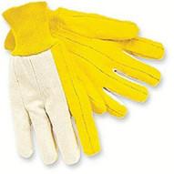 Memphis Glove 8516 Reg. Weight Canvas Backwhite Knit Wrist Golde (12 PR)-1