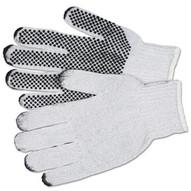 Memphis Glove 9650LM Large Cotton/polester Natural Pvc Dots/1 Side (12 PR)-1