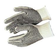 Memphis Glove 9660LM Cotton/polyester Naturalpvc Dots 2 Sides Large-1