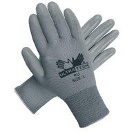 Memphis Glove 9696L Ultra Tech Gray Pu Palmnylon 13 Gauge-1