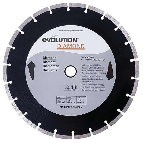 Evolution 12BLADEDM 12 x 1 Diamond Blade for Masonry cutting, Max RPM 4400 FOR DISCCUT1-1