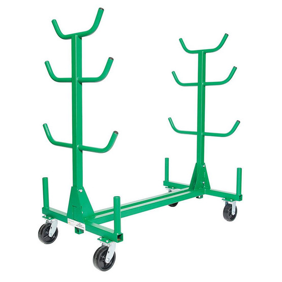 Greenlee 668 Mobile Conduit And Pipe Rack With 603 Casters-4