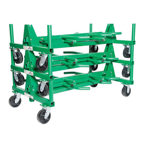 Greenlee 668 Mobile Conduit And Pipe Rack With 603 Casters-2