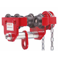 Hit Tools 16-GT1H 1 Ton Geared Trolley, Beam Flange Width: 2 1/2 - 8 w/ 10 Feet of Chain-4