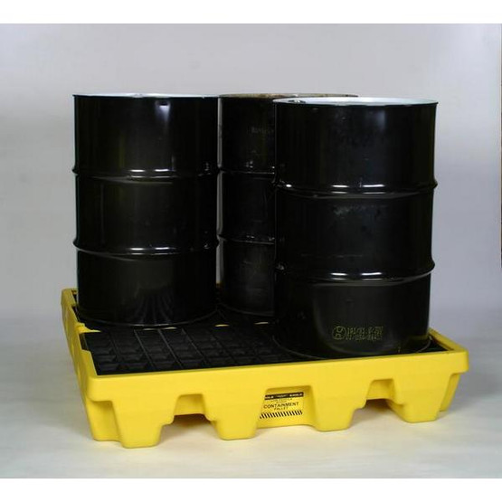 Eagle Manufacturing 1645ND 4 DRUM LOW PROFILE PALLET W/O Drain-1