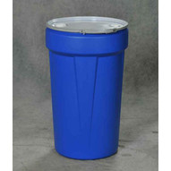 Eagle Manufacturing 1655MBBG 55 Gal Nestable Drum W/metal Band & Plastic Lid With Bungs.-1