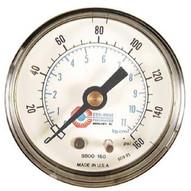 Coilhose Pneumatics 8800-160 15060 2 Pressure Gauge0-160psi 1/4 Back M-1