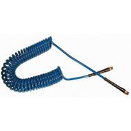 Coilhose Pneumatics PU14-25B-B 1/4id X 25' Blue Flexcoil W/2 1/4mpt-1