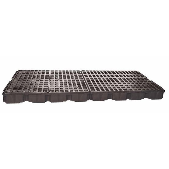 Eagle Manufacturing 1688B Black 8 DRUM LOW PROFILE SPILL CONTAINMENT PLATFORM W/O Drain-2