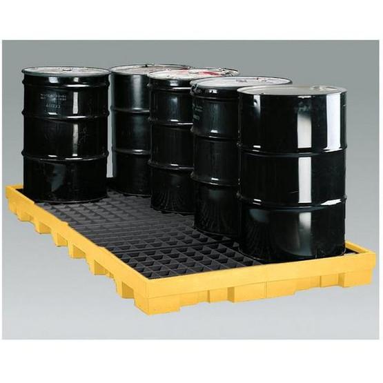 Eagle Manufacturing 1688D 8 DRUM LOW PROFILE SPILL CONTAINMENT PLATFORM W/ Drain-1