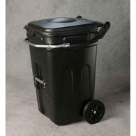 Eagle Manufacturing 1696BLK 65 Gal Wheeled Waste E-cart W/lid-1