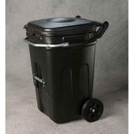 Eagle Manufacturing 1696BLK 65 Gal Wheeled Waste E-cart W/lid-1
