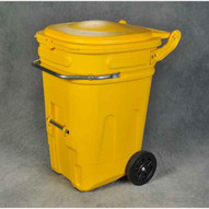 Eagle Manufacturing 1696Y 65 Gal Wheeled Spill Kit E-cart W/lid-1