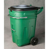 Eagle Manufacturing 1697GN 95 Gal Wheeled Waste E-cart W/lid-1