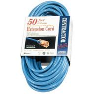 Coleman Cable 02468 50ft 14/3 Extension Cordfluorescent Blue Sjtw-1