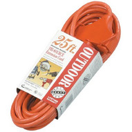 Coleman Cable 04217 25' 14/3 Sjtw-a Red 3-way Power Block 300v-1