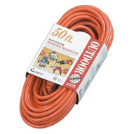Coleman Cable 04218 50' 14/3 Sjtw-a Red 3-way Power Block 300v-1
