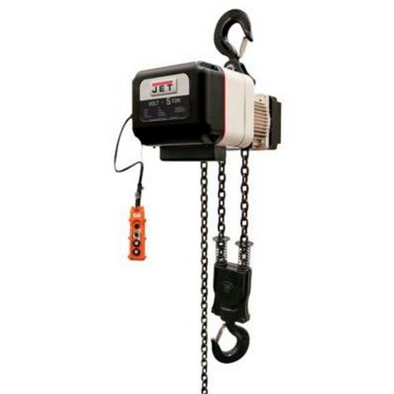 Jet 180516 Volt 5t Variable-speed Electric Hoist 3ph 460v 15' Lift-1