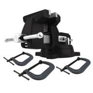 Wilton 21500K Holding Strong Kit Black 746 Mechanics Vise And 3-pc 400 Series C-clamp Set-1