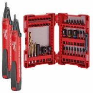 Milwaukee 2202-20 Voltage Detector (2-Pack) with FREE 48-32-4006 Impact Duty Drill and Driver Bit Set ($75 VALUE)-3