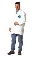 DuPont TY210S-M Tyvek Lab Coat Snap Front-1