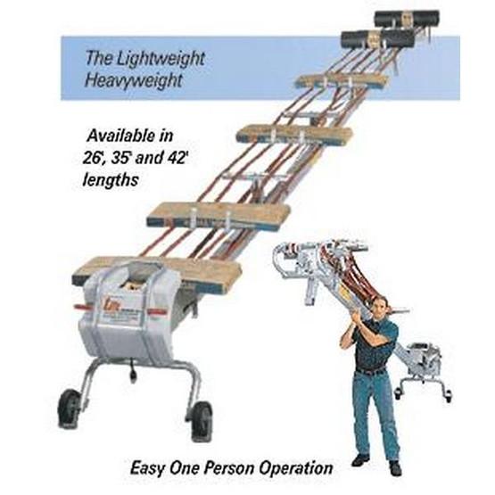 Lift Conveyors 35 Foot Portable Belt Lift Conveyor-1