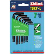 Eklind Tool 10807 7-pc Torx Short Allen Wrench Set W/holder (6 SET)-1