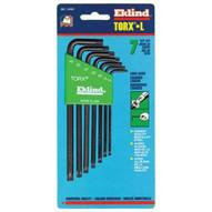 Eklind Tool 10907 7-pc Torx Long Allen Wrench Set W/holder T-1