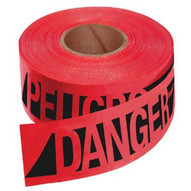 Empire Level 76-0604 Reinforced Danger/peligobarr Tape-rd W/blk Prnt-1