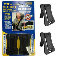 Master Design Seatbelt Adjuster - Provides Comfort for Neck and Shoulder While Driving! (Pack of 2)-1