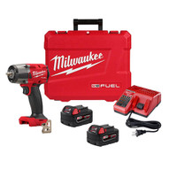 Milwaukee M18 FUEL 3/8 Mid-Torque Impact Wrench w Friction Ring Kit-0