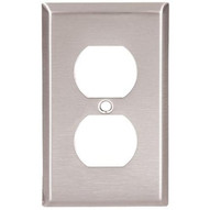 Cooper Wiring Devices 93901-BOX Wallplate 1g Duplex Receptacle Mid Ss (10 EA)-1