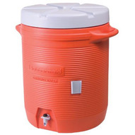 Rubbermaid Commercial 1655-01-11 7 Gal Orange Plastic Water Cooler 1655-1