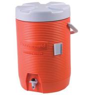Rubbermaid 1683-01-11 3 Gallon Orange Plastic Water Cooler 1683-1