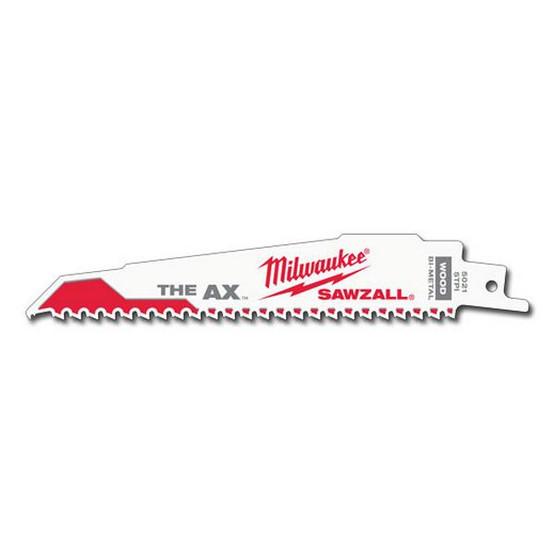 Milwaukee 48-01-2021 6 5 Tpi The Ax Sawzall Blade (25 Pk) (25 Ea) (25 EA)-1