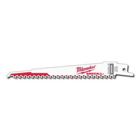 Milwaukee 48-01-7035 6 5 Tpi Sawzall Blades (100 Pk) (100 Ea) (100 EA)-1
