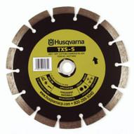 Husqvarna 501510402 TXS-S Dri Disc - 4-12 (114) x .085 Hard Material Blade For Cutting Concrete Brick Masonry And Stone-1