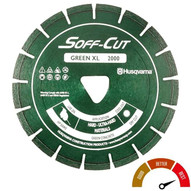 """""""Husqvarna 542756176 Excel Green PV14S14-2000 - 14 (350) x .250 Early Entry Saw Blade For Hard Aggregate"""