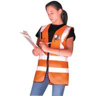 Occunomix LUX-SSFS-O2X Occulux Surveyors Vest:orange (50 EA)-1